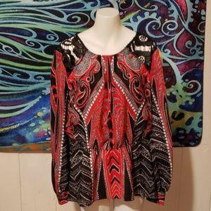 bisou bisou blouse NWT size L